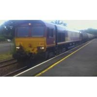 EWS 66170 Locomotive Through Clunderwen from Westerleigh Murco