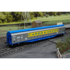 Heljan 5001 Cargo Waggon Silver & Blue